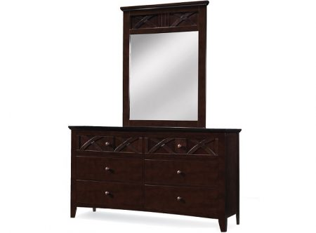 23015 - 6 drawer dresser + 23015-MR.